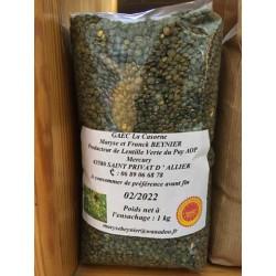 Lentilles Vertes Sachet 1kg