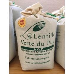 Lentilles Vertes Toile 500g